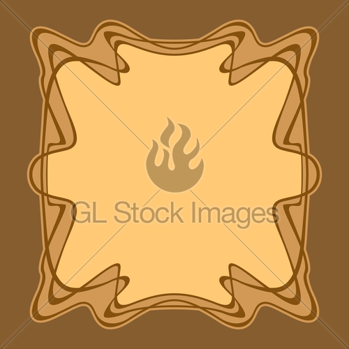 500x500 Vector Art Deco Frame. Gl Stock Images