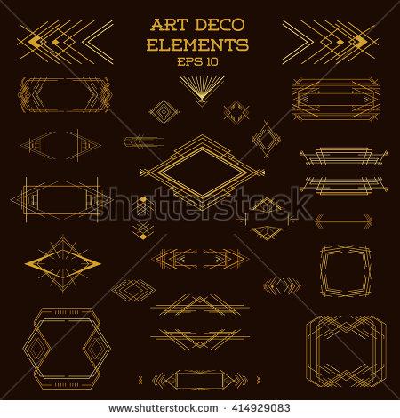 450x470 Free Art Deco Business Card Template Art Deco Frame Vintage Design