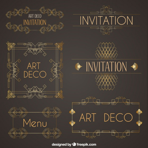 art deco logo vector at getdrawings com free for personal use art