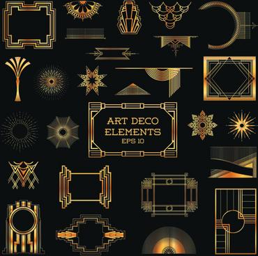 370x368 Art Deco Elements Free Vector 217 655 Free Vector For Art Deco