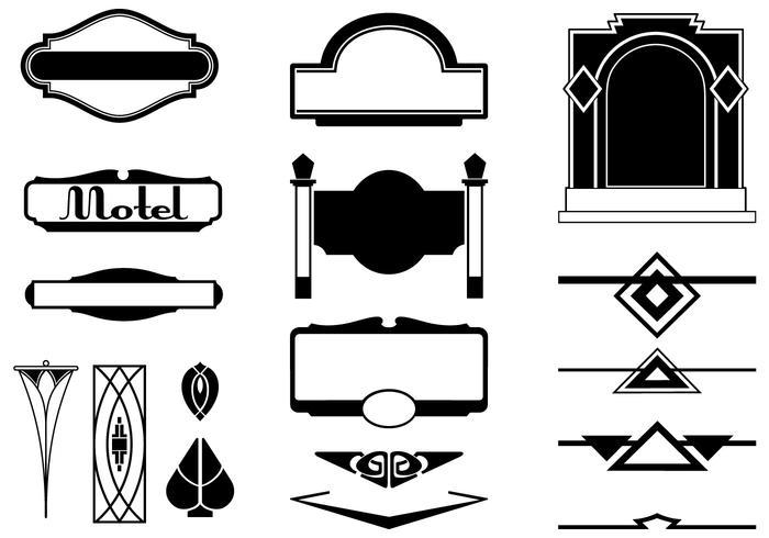 700x490 Art Deco Sign Vectors And Ornament Vector Pack