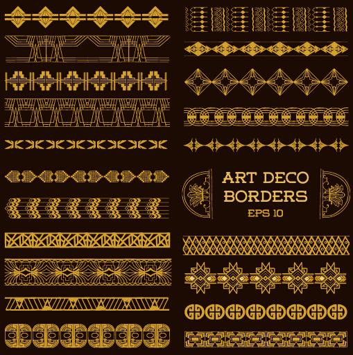 509x512 Deco Art Borders Golden Vector Free Download