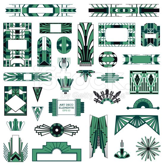 556x556 Free Art Deco Vector Art Deco Vintage Frames And Design Elements