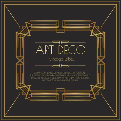 490x490 Gold Art Deco Vector Label
