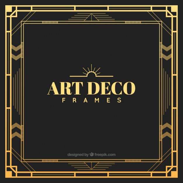 626x626 Golden Art Deco Frame Free Vectors Ui Download