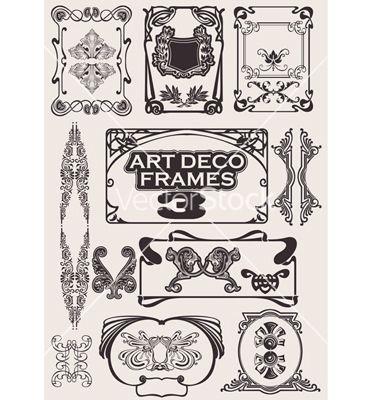 380x400 Free Art Deco Vector Art Deco Frames Vector Art Deco