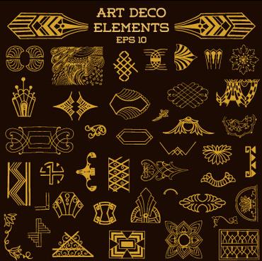 370x368 Art Deco Vector Free Art Deco Elements Free Vector 217 655 Free