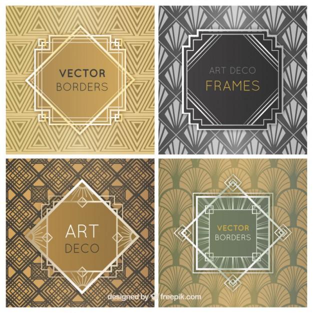 626x626 Art Deco Frames Vector Free Download