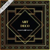 200x200 Art Deco Vector Border Frame Free Vector Graphic Art Free Download