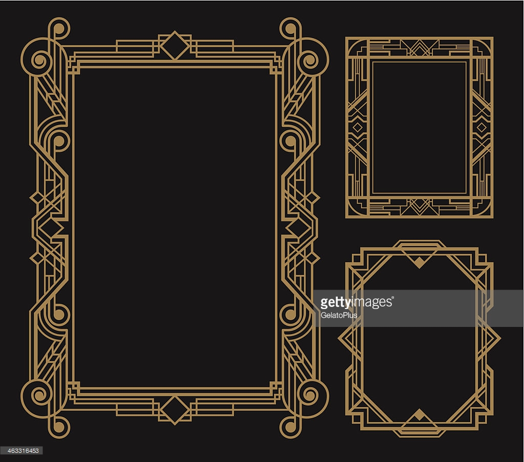 1024x903 Art Deco Border Group With Items