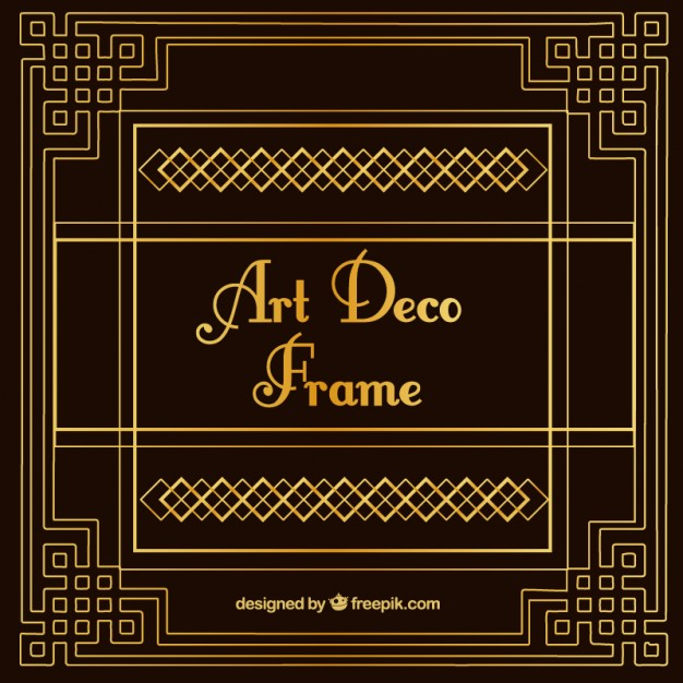 626x626 Vintage Decorative Art Deco Frame Vector Free Download