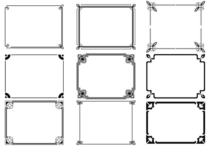 700x490 Art Deco Frames Vector Pack
