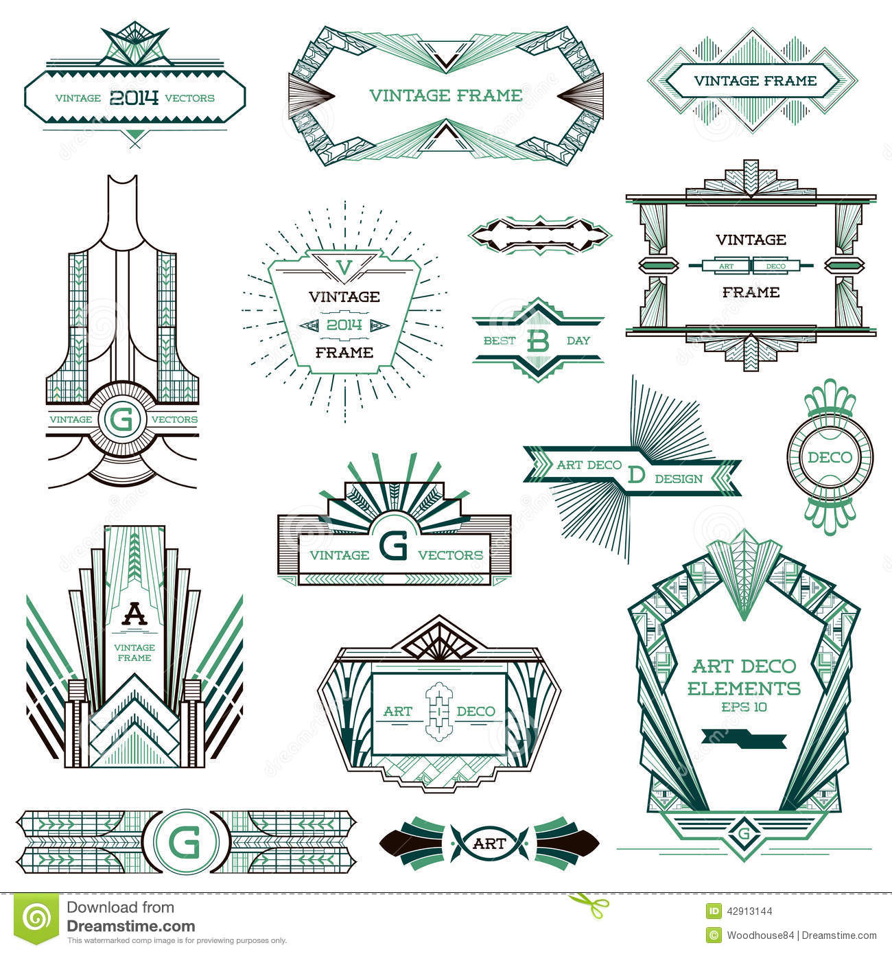 Art Deco Vector Shapes