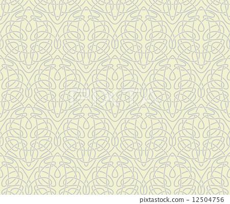 450x398 Art Nouveau Seamless Background(Vector, Cmyk)