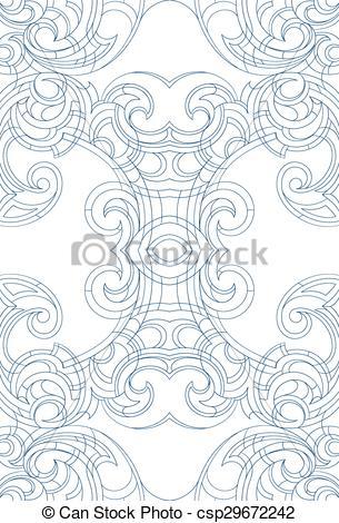 305x470 Art Nouveau Style Ornament. Creative Background Ornament In Art