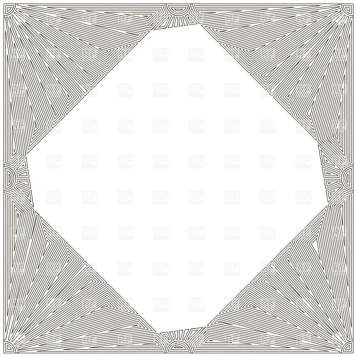 1200x1200 Decorative Art Nouveau Frame Against White Background Vector Image