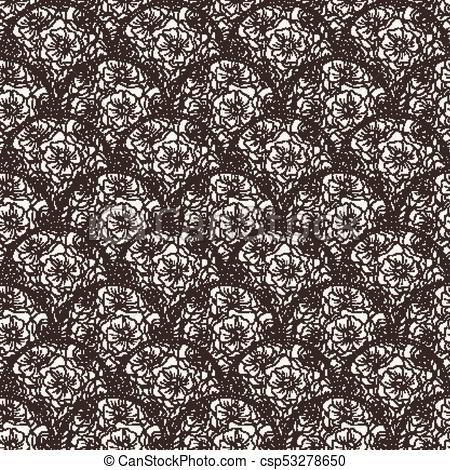 450x470 Flover Wallpaper In The Style Of Art Nouveau. Seamless Vector