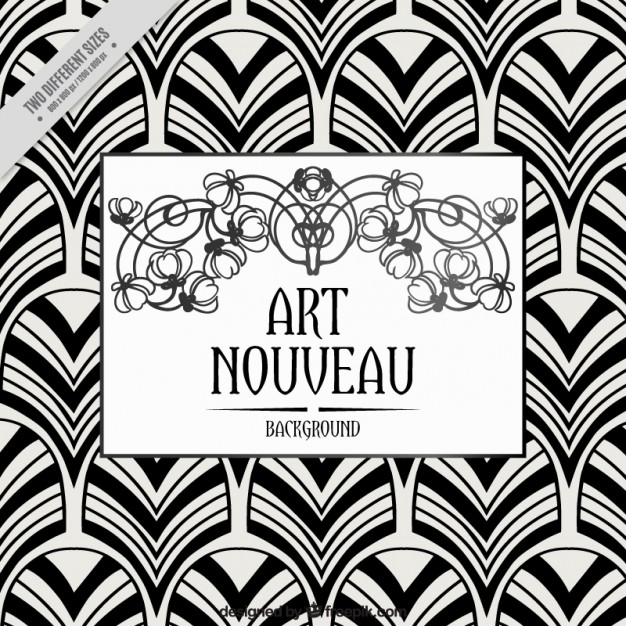 626x626 Geometric Background In Art Nouveau Style Vector Free Download