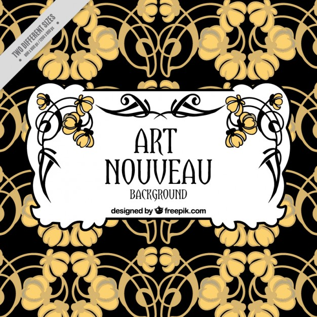 626x626 Abstract Floral Background In Art Nouveau Style Vector Free Download