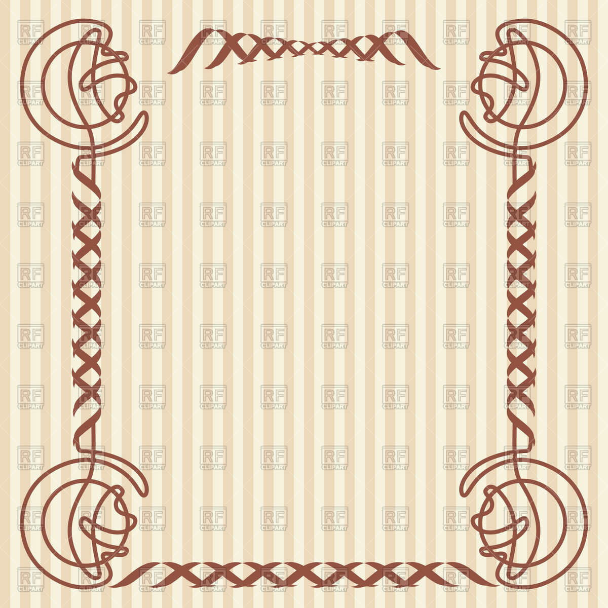 1200x1200 Square Decorative Frame In Art Nouveau Style Vector Image Vector