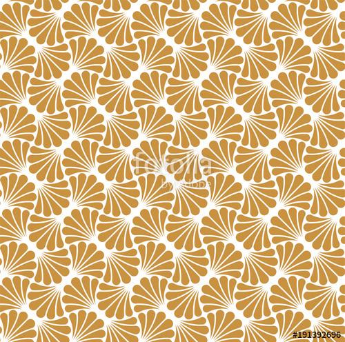 500x496 Vector Floral Art Nouveau Seamless Pattern. Geometric Decorative