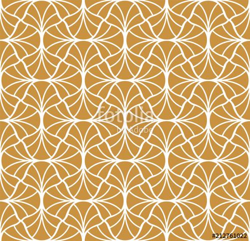500x481 Vector Golden Classic Floral Art Nouveau Seamless Pattern. Stylish