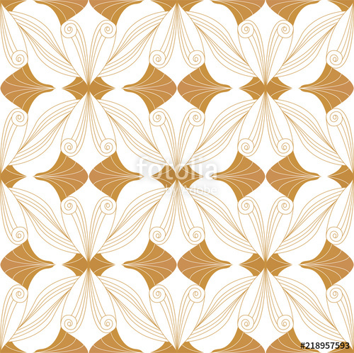 500x498 Vector Floral Damask Seamless Pattern. Elegant Abstract Art