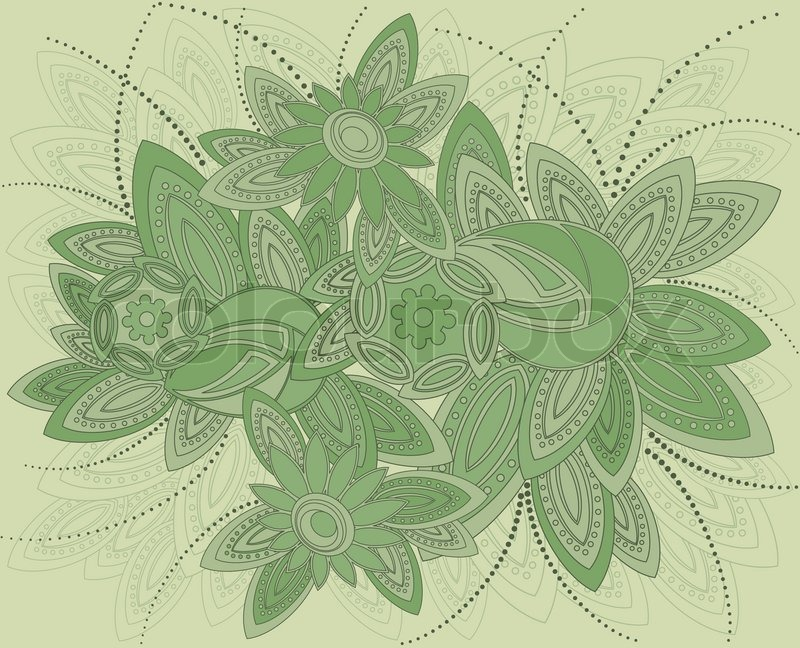 800x648 Vector Illustration Of Background In Art Nouveau Style. Stock