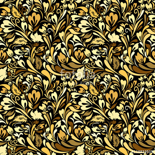500x500 Art Nouveau Floral Seamless Background Stock Image And Royalty