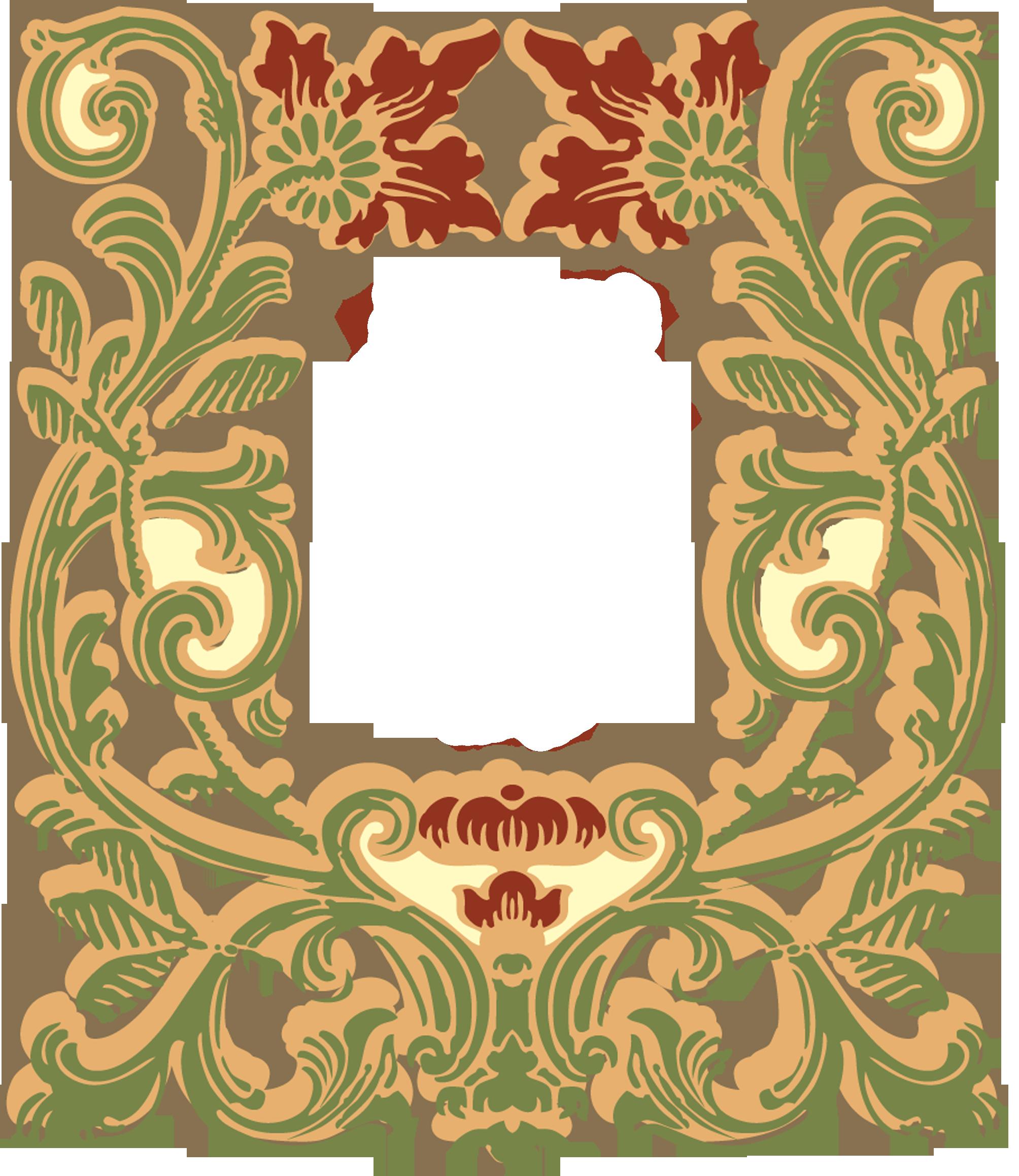 2008x2316 Art Nouveau Label (Without Background)