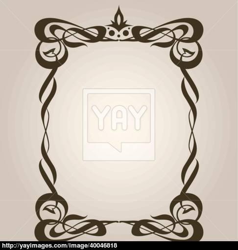 486x512 Classical Art Nouveau Frame Vector