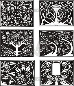 256x300 Art Nouveau Floral Patterns