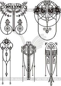 212x300 Art Nouveau Patterns