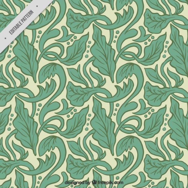 626x626 Artistic Pattern With Hand Drawn Leaves In Art Nouveau Style