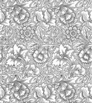 300x335 Free Art Nouveau Flowers Vector