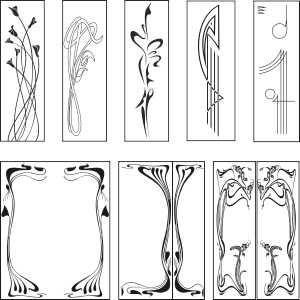 300x300 Free Graphic Downloads Art Nouveau Designs. Vector Clipart. Free