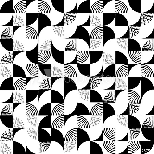 500x500 Seamless Art Deco Pattern Vector Background. Perfect For