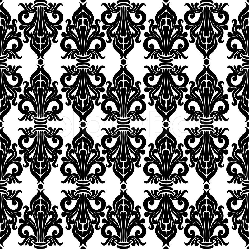 800x800 Seamless Ornament Classic Art Nouveau. Floral And Abstract Pattern