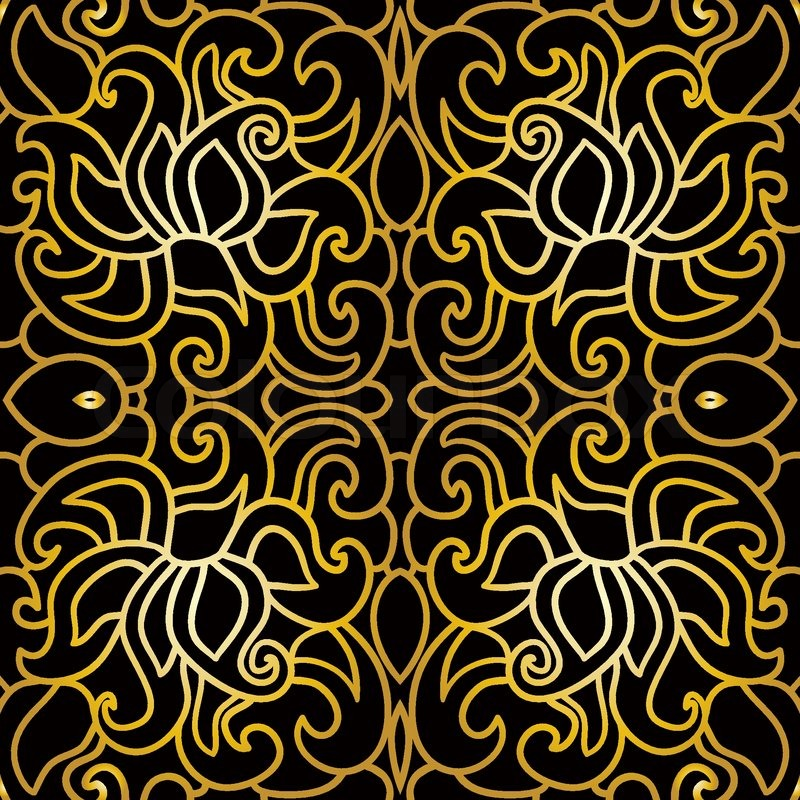 800x800 Seamless Pattern With Abstract Pattern In Art Deco Style Stock