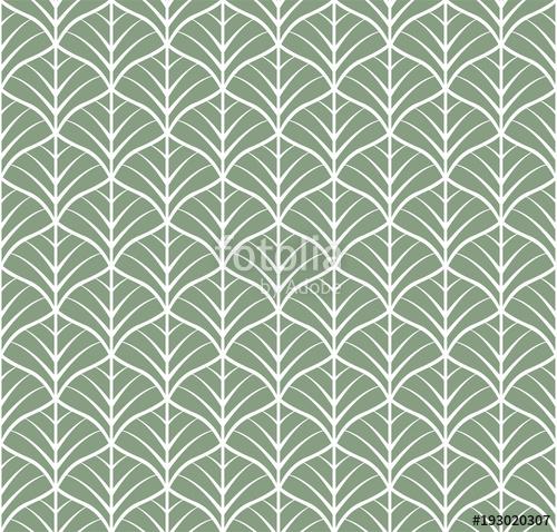 500x478 Vector Floral Art Nouveau Seamless Pattern. Geometric Decorative