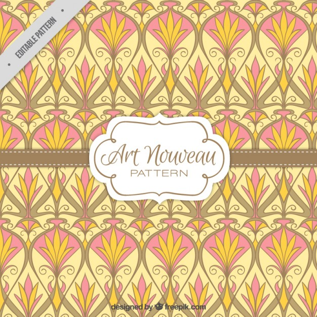 626x626 Vintage Floral Shapes Art Nouveau Pattern Vector Free Download