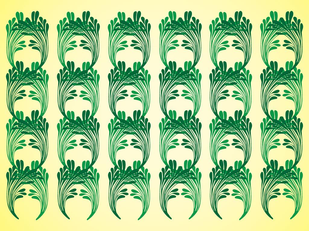 1024x768 Art Nouveau Pattern
