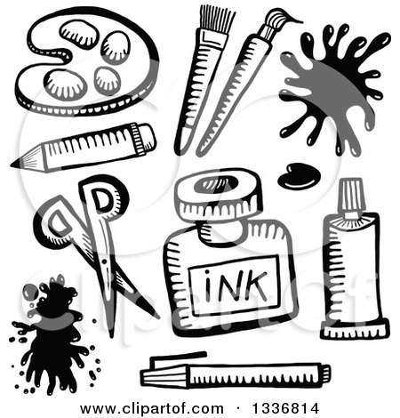 450x470 Artistic Clipart Drawing Material
