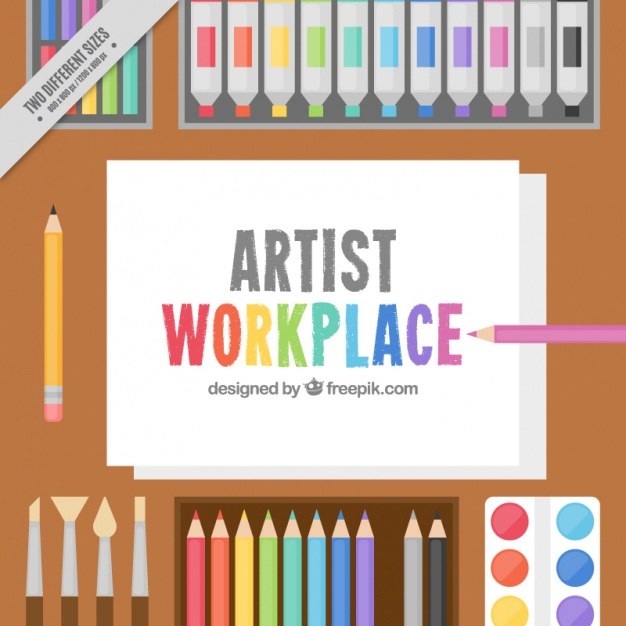 626x626 Background Of Art Materials And Paper Vector Free Download