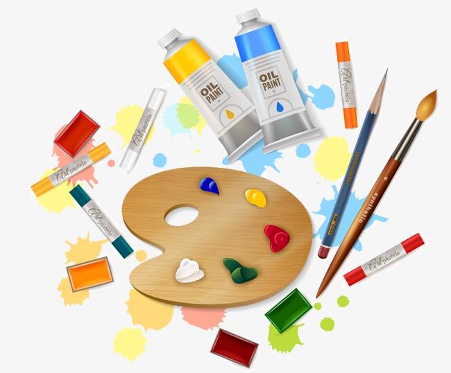 650x538 Cartoon Art Supplies, Cartoon Vector, Cartoon, Art Vector Png And