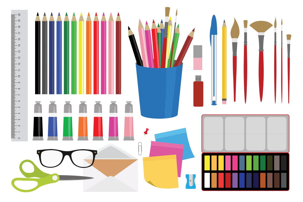 1200x800 Office Stationery And Art Supplies Free Download Graphic Dl