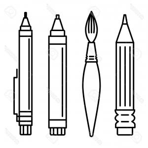 300x300 Photostock Vector Line Art Vector Illustration Set Of Icons For