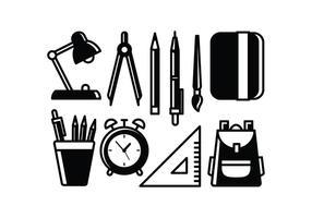 286x200 School Supplies Free Vector Art