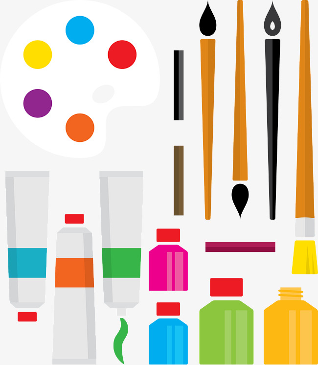 650x746 Art Supplies, Drawing Tools, Painting Tools Png And Vector For