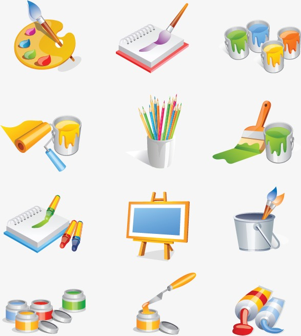 587x655 Art Supplies Png, Vectors, Psd, And Clipart For Free Download